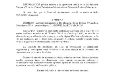 Edicto Normas Urbanísticas Municipales